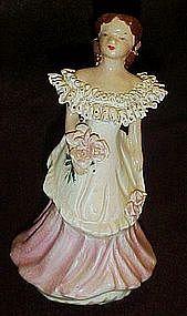 Vintage California pottery lady figurine, Kay Finch,