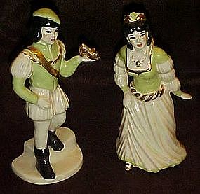 Ceramic Arts Studio Cinderella and Prince,  figurines