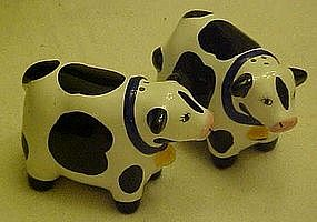 Coco Dowley Cow  salt and pepper shakers by Cert Int'l