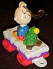 Peanuts Charlie Brown and Christmas tree train ornament