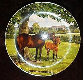 Spode English Thoroughbred horse plate, Susie Whitcomb