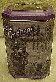 Milton S. Hershey nostalgic  dedication tin, Hershey PA