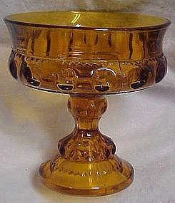 Indiana Kings Crown gold / amber footed compote