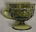 Colony Whitehall footed cup, avocado green