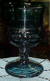 "Indiana Kings crown 5 5/8"" colonial blue stemmed goblet"