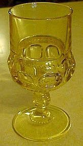 "Indiana kings crown yellow/topaz 5 5/8"" stemmed goblet"
