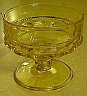 Indiana kings crown topaz yellow sherbert dish