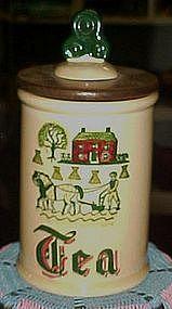 Metlox Provincial Homestead tea canister