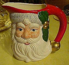 Ceramic Santa Claus pitcher