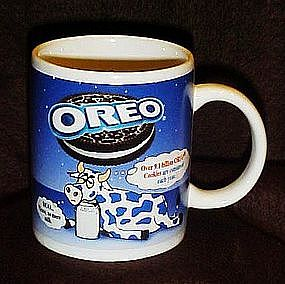 Oreo cookies advertising mug, cup, Oreo cows