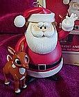 Hallmark keepsake ornament, Rudolph & Santa, lights up