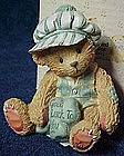 "Cherished teddies, Kevin, ""Good luck to you"" figurine"