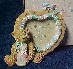 Cherished Teddies heart shaped photo frame, 910783