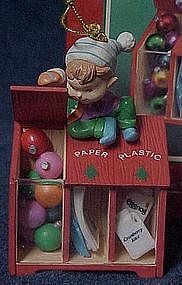 Enesco ornament, get in the spirit, recycle, 1995