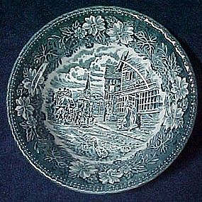 Royal Tudor ware,  blue coaching Taverns, cereal bowl
