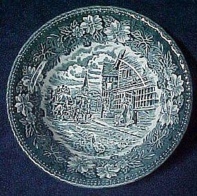 Royal Tudor ware,  blue coaching Taverns, cereal bowl