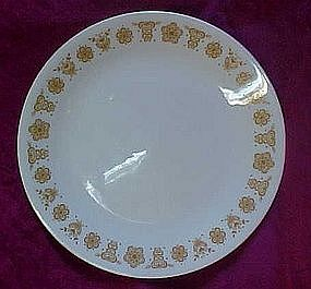 Corelle salad or luncheon plate, butterfly gold pattern