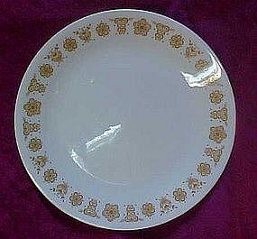 Corelle luncheon plate, butterfly gold pattern