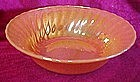 "Fireking 8 1/2"" vegetable bowl, shell, peach lustre"