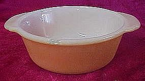 Fireking 1 pt copper tint casserole bottom