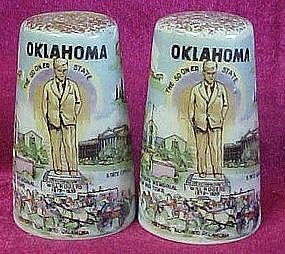 Vintage Oklahoma scenic salt and pepper shakers