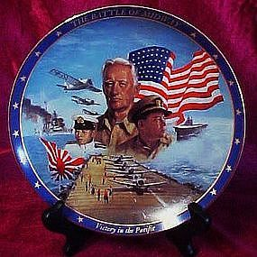 The Battle at Midway plate World War II A remembrance