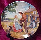 Oh what a beautiful mornin' plate from Oklahoma series