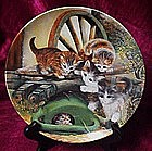 Hide and seek kittens plate, Wolfgang Kaiser