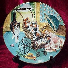 Stroller Derby collector plate, Country kitties series