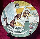Rock and Rollers collector cat plate, Country Kitties