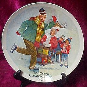 The Skating Lesson, Csatari Grandparent Plate 1981