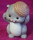 Avon porcelain grey squirel figurine 1992