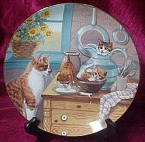 Table Manners plate, from country Kitties series