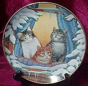 Furry Flurry collectors plate by Turi Mac Combie