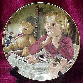 bedtime Story, plate by Liz Moyes, Danbury Mint