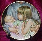 Welcoming the new baby plate, Liz Moyes, Danbury Mint