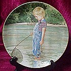 Fishing plate by Liz Moyes, Danbury mint