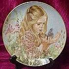 Catching a butterfly plate by Liz moyes, danbury Mint