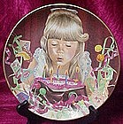 Birthday wish plate, Liz Moyes, Danbury Mint