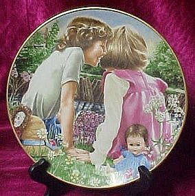 Sharing a Secret plate , by liz Moyes, danbury mint