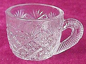 Tiny  children's presssed pattern glass punch cup