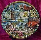 Colorful  metal souvenir tray of Arizona
