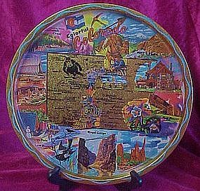 Metal state souvenir tray of colorful Colorado