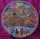 Metal state souvenir tray of colorful Colorado