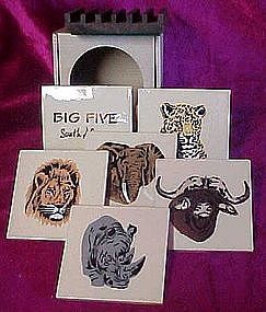 Big Five, Safari animal coaster set