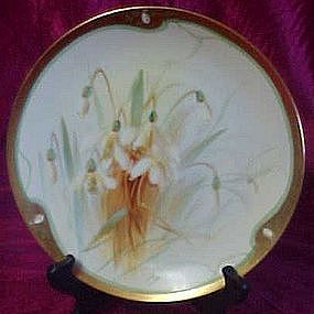 Vintage WA Pickard hand painted cabinet plate, flowers