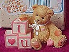 "Enesco Cherished Teddies ""I love you"" mini figurine MIB"