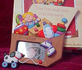 Hallmark keepsake ornament, Toddler Photo holder