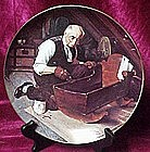 "Norman Rockwell ""Grandpa's Gift""  collector plate"