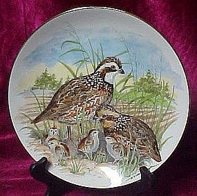 Game Birds of the South Bobwhite Quail  collector plate